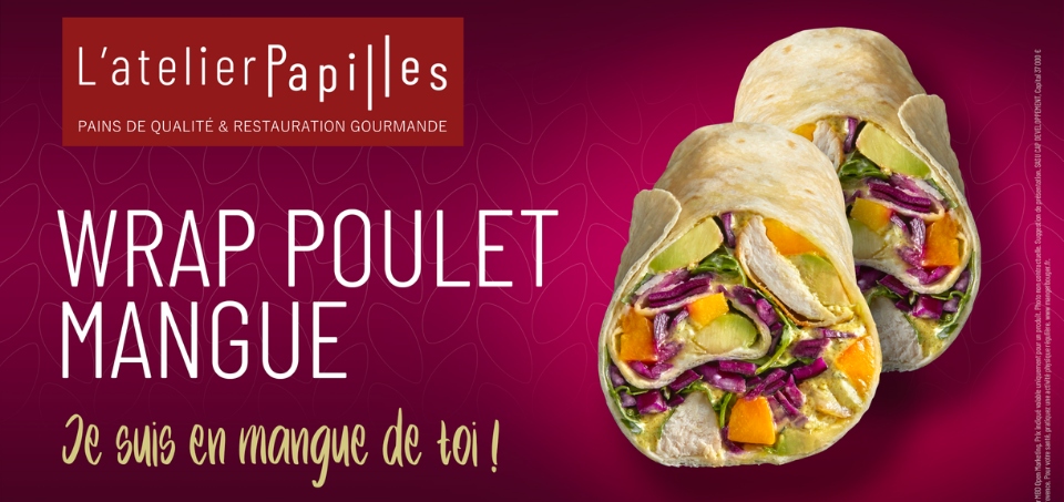 Produit star : Wrap Poulet Mangue